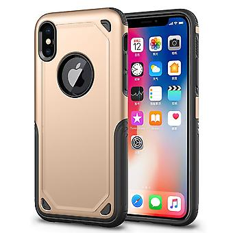 For iPhone XS Max Cover,Shockproof Rugged Armour Shielding Shield Case,Gold