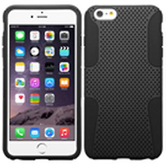 ASMYNA Astronoot Protector Case for iPhone 6s Plus/6 Plus - Black/Black