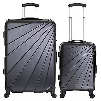 Slimbridge Fusion-Set van 2 harde koffers, zwart