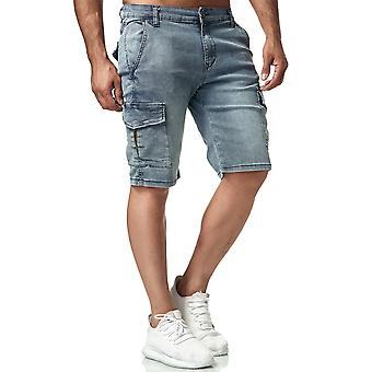Hombres Jeans Shorts Cargo Casual Pantalones De verano Pantalones Ripped Bermuda