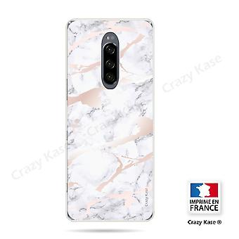 Hull For Sony Xperia 1 Soft Pink Marble Effect
