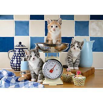 Schmidt katter i pussel av kök (500 bitar)