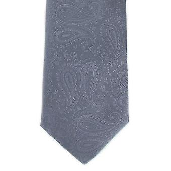 מייקלסון של לונדון טונטי פוליאסטר עניבה-אפור