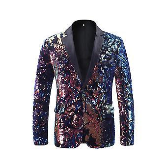 Cloudstyle Men's Blazer Colorful Sequins Shining Party Suit
