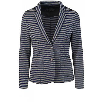 Bianca Metallic Striped Fitted Jacket