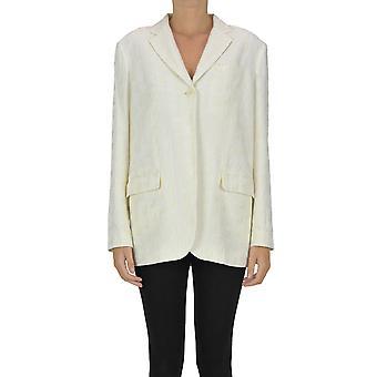 Jacquemus Ezgl240009 Women's White Viscose Blazer
