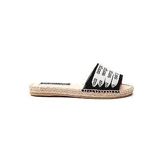 Sergio Rossi A89180mfn9751000 Women's Black Fabric Sandals