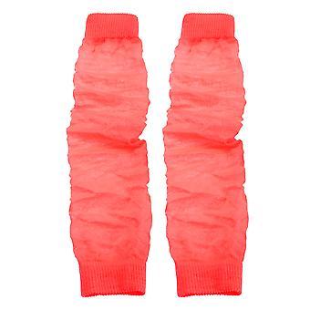 Ladies/Womens Neon Leg Warmers (1 Pair)