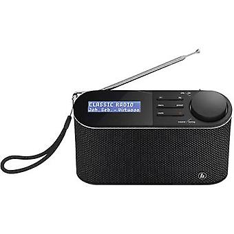 Hama DR15 Bärbar radio DAB+, FM Svart