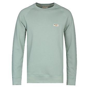 Nudie Jeans Samuel Pale Green Logo Sweatshirt