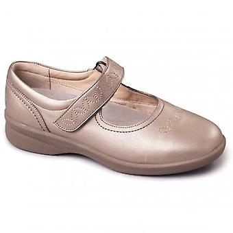 Padders Sprite 2 Ladies Leather Extra Wide (3e/4e) Scarpe Pewter