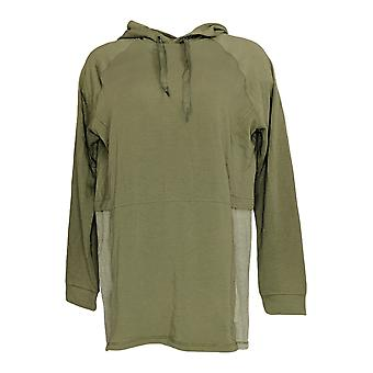 Cuddl Duds Women's Sweater Comfortwear Hoodie Green A310281