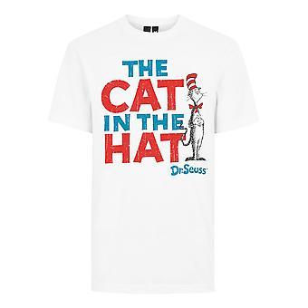 Dr Seuss De kat in de hoed officiële T-shirt Mens Unisex