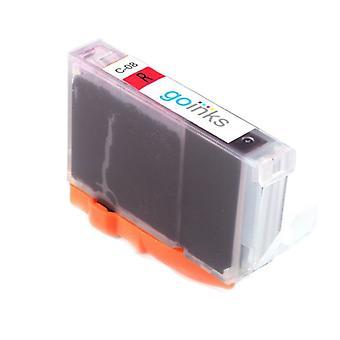 1 punainen yhteensopiva Canon CLI-8R tulostimen mustekasetti