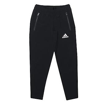 Girl's adidas Junior Slim Tkane spodnie w kolorze czarnym