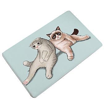 ヤンファンノンスリップかわいい猫プリントバスマット