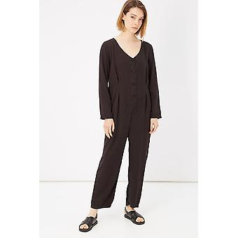 Please Nero Black Casual Jumpsuit Dress