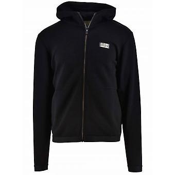 EA7 Black & Gold Hooded Sweatshirt
