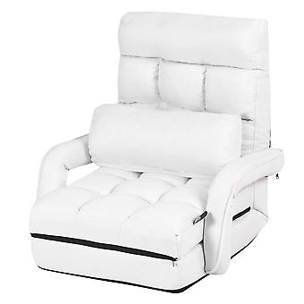 2 IN 1 Folding Lazy Sofa Lounger Floor Gaming Armchair Bed Recliner Adjustable