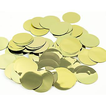 100g Metallic Gold Foil Confetti Circles for Wedding Party Tables