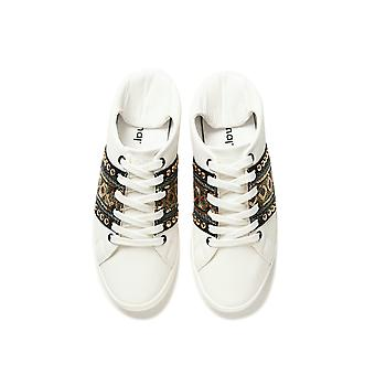 Desigual Cosmic Exotic Gold Sneakers Pumps Cabrio letgiert mit Pailletten