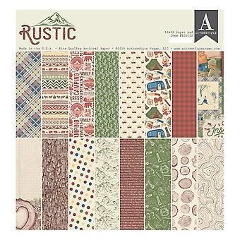 Authentique Rustic 12x12 Inch Paper Pad