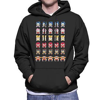 Sonic The Hedgehog Cute Characters Men's Hooded Sweatshirt