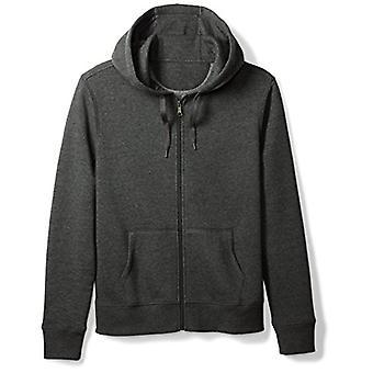 Essentials Men & apos, full-zip hooded fleece tröja, kol Heather, ...