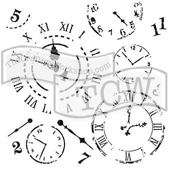 The Crafter's Workshop Time Travel 6x6 Inch Stencil