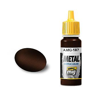 Ammo by Mig Acrylic Metallic Paint - A.MIG-0187 Jet Exhaust Burnt Iron (17ml)