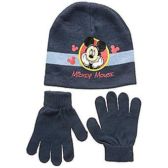 Disney mickey kids hat and gloves set