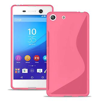 Ultra Slim Case for Sony Xperia M5 Light Common Colors Ultra Thin Rubber Pink