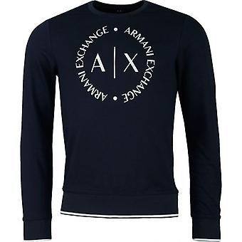 Armani Exchange Circle Logo Crew Krk Pot