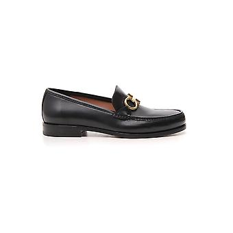 Salvatore Ferragamo 02b715712557 Men's Black Leather Loafers