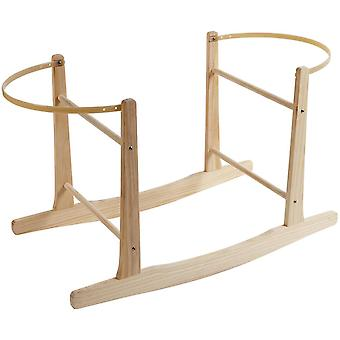 Clair de Lune Wooden Rocking Moses Basket Stand Natural