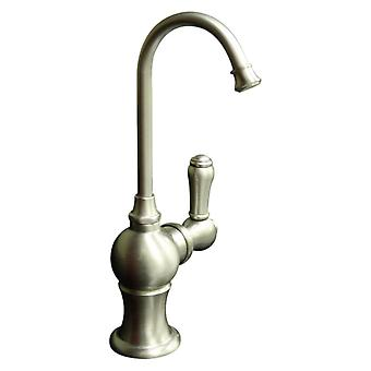 Point Of Use Instant Hot Water Faucet With Gooseneck Spout And Self Closing Hot Water Handle - Brushed Nickel