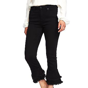 1.State | Ruffle-Hem Cropped Skinny Jeans