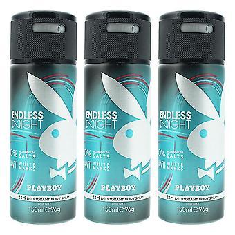 Playboy Endless Night Deodorant Spray 150ml x 3