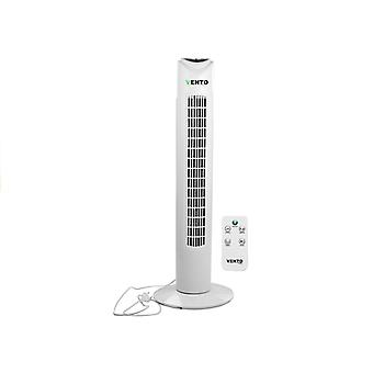 Tower fan white - 79 cm - 40W - with remote control