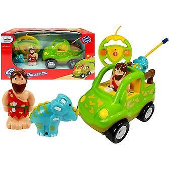 R / C Car Safari-stijl met dinosaurus lichtgroen