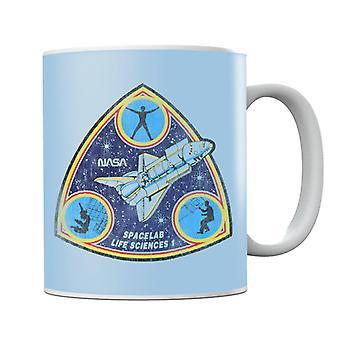 NASA Spacelab Life Sciences 1 Mission Badge Distressed Mug