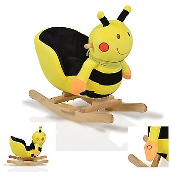 Plush rocking bee WJ-635 sound function, wooden handles from 12 months