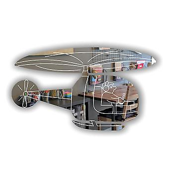 Childrens Engraved Helicopter Acrylic Mirror