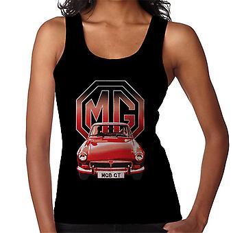 MG B GT Red British Motor Heritage Kvinner's Vest