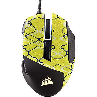 REYTID Durasoft Polymer Mouse Gaming Mouse Skin Grip Sticker Tape - PRE-CUT - Compatible con Corsair Scimitar RGB Elite - Grips antideslizantes, impermeables y ultracómodas