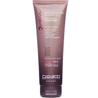 Giovanni Cosmetics 2chic Brazilian Keratin and Argan Oil Ultra-Sleek Conditioner, 24 OZ