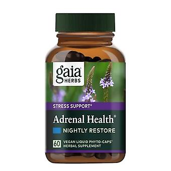 Gaia Herbs Adrenal Health Nightly Restore, 120 Caps