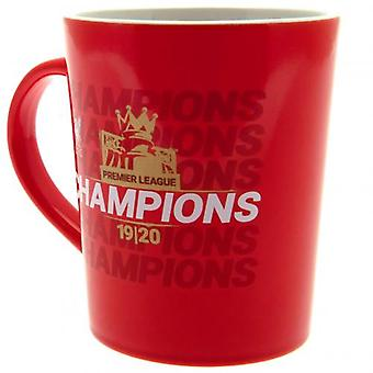 Liverpool Premier League Champions Gold Print Mug