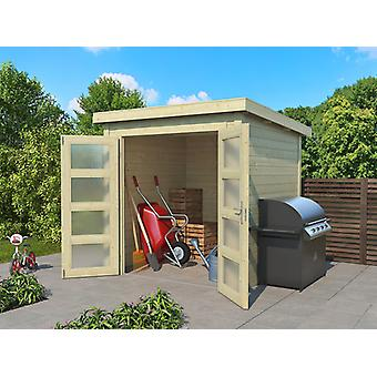 Wooden Shed Torrent 2x2x2.11 m, 28 mm, Natural