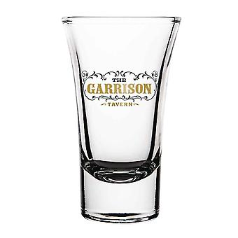 Peaky Blinders Shot Glasses and Holder Garrison Tavern Logo new Official Set